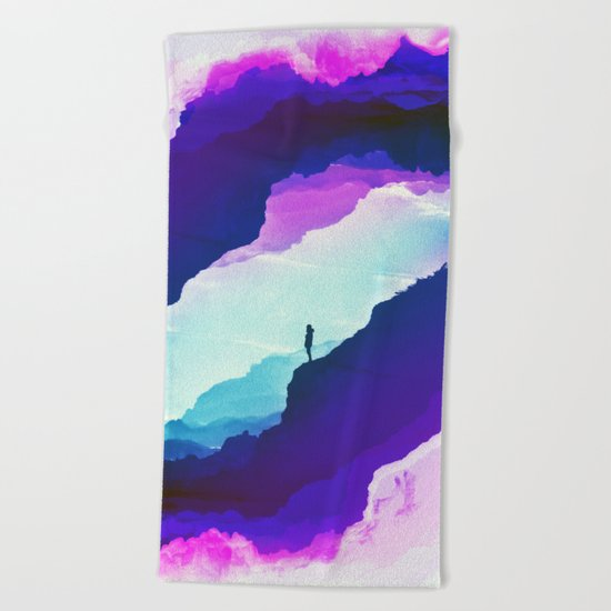 Violet dream of Isolation Beach Towel