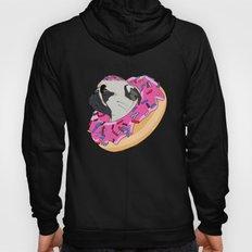 Pug Donut Strawberry Profile Hoody