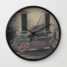 Hot Rod Batmobile  Wall Clock