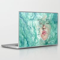 breathe Laptop & iPad Skins featuring Breathe by Pendientera