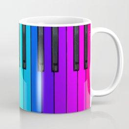Rainbow Piano Keyboard  Coffee Mug