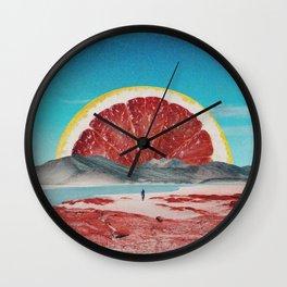 Grapefruit Beach Wall Clock
