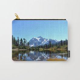 Mount Shuksan reflected on Picture Lake Carry-All Pouch