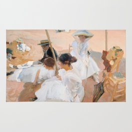 Under The Awning, On The Beach at Zarauz - Sorolla Rug
