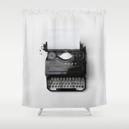 typewriter #society6 #decor #buyart Shower Curtain