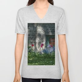 Early summer cottage Unisex V-Neck