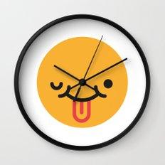 Emojis: Crazy face Wall Clock