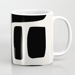 Black and White Abstract Shapes Coffee Mug