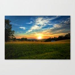Dale Hollow Sunset Canvas Print