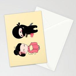 Tiny Ninja and Geisha Stationery Cards