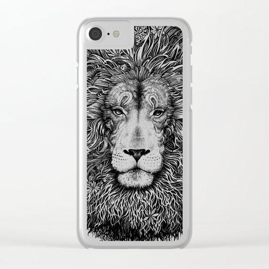 king of the jungle Clear iPhone Case