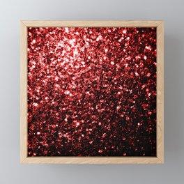 Beautiful Glamour Red Glitter sparkles Framed Mini Art Print