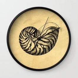 Nautilus Shell Vintage Wall Clock