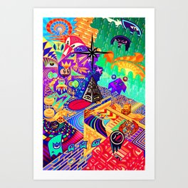 4th and a Half Dimension Art Print