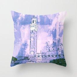 Siena, Piazza del Campo Throw Pillow