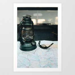 Mapped and ready to go Art Print