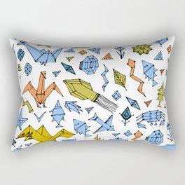 Marine animals and plants, Stylized origami Rectangular Pillow