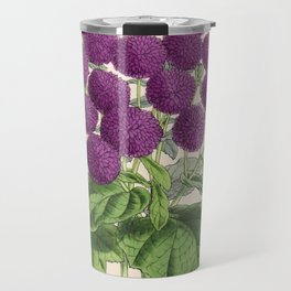 Double Cineraria Original hand-coloured print drawn and lithographed by Fitch Travel Mug