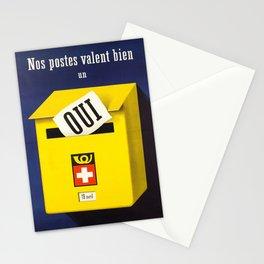 Advertisement nos postes valent bien un oui  Stationery Cards