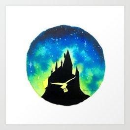 Wizard Academy at sunset Art Print
