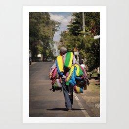 Hammock seller in El Salvador Art Print
