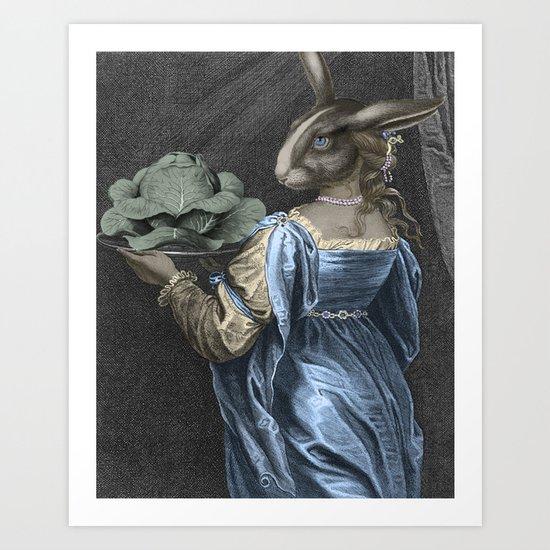 HEAD ON A PLATTER Art Print