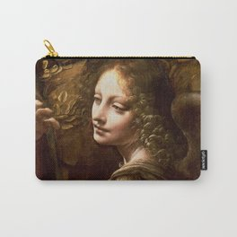 "Leonardo da Vinci Angel in ""The Virgin of the Rocks (London)"" Carry-All Pouch"