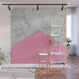 Geometric Concrete Arrow Design - Pink #329 Wall Mural