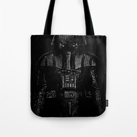 darth Tote Bags featuring Darth Magritte by Billy Allison