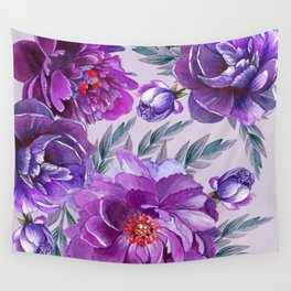 Violet and Purple Flowers Wall Tapestry