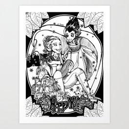 Happy Yule Art Print