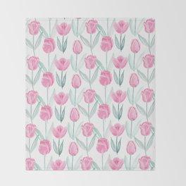 Tulipanes Throw Blanket
