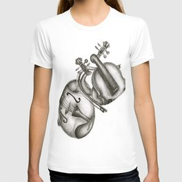 Violin Tangle  T-shirt