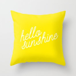 Hello Sunshine Script Throw Pillow