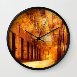 Infernal Prison Corridor Wall Clock