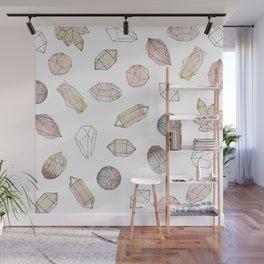 Watercolor Crystals | Healing Crystals Wall Mural