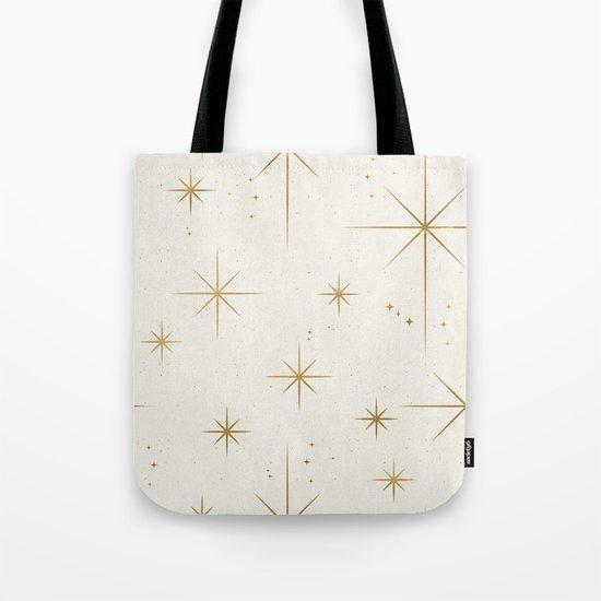 Seamless Pattern Glamorous White Gold Art Deco Stars Constellations Minimalist Geometric Pattern by seam-less
