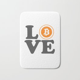 Bitcoin Love Satoshi Blockchain Crypto Currency BTC Bath Mat