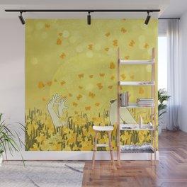 Yellow Effervescence Wall Mural