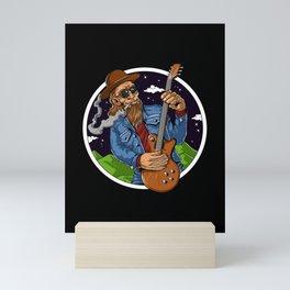 Bigfoot Heavy Metal Guitar Player Mini Art Print