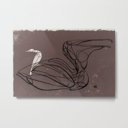 The Pelican And The Ally Metal Print