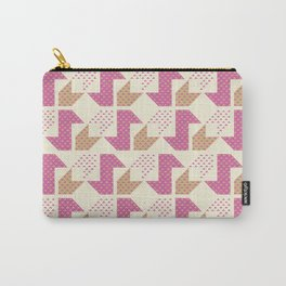 Clover&Nessie  Pink/Sand Carry-All Pouch