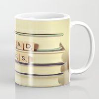 read Mugs featuring Read Books by Olivia Joy StClaire