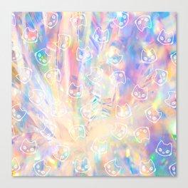 Cat Worm Hole Canvas Print