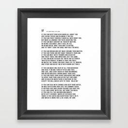 IF #minimalism Framed Art Print