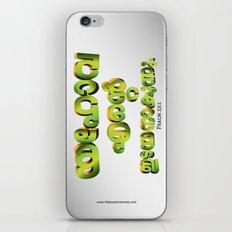 Psalm 23:1 (3D-Green&Orange) iPhone & iPod Skin