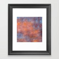 Orange Color Fog Framed Art Print