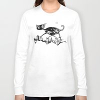 black cat Long Sleeve T-shirts featuring black cat by Bunny Noir