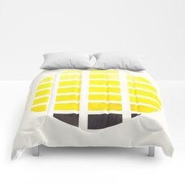 Watercolor Colorful Yellow Minimalist Mid Century Modern Square Matrix Geometric Pattern Round Circl Comforters
