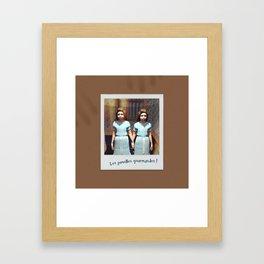 Les jumelles gourmandes ! Framed Art Print